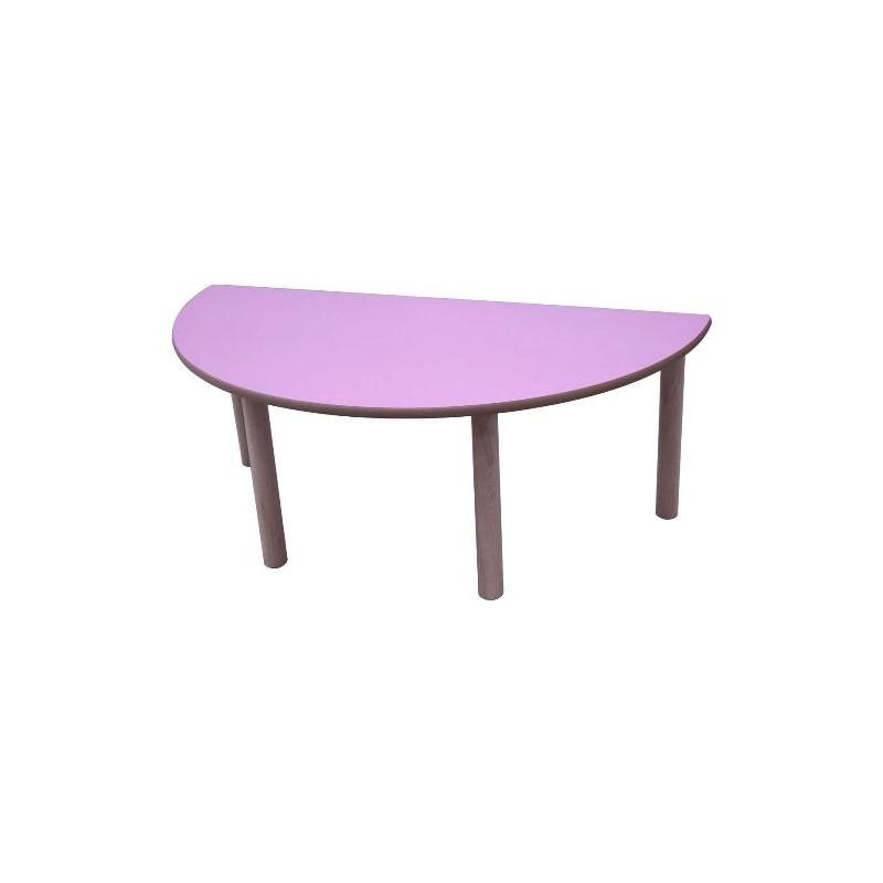 Mesa infantil madera semicirculo 120x60 cms - Mesa infantil madera ...