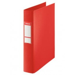 CARPETA PLASTICO 2 ANILLAS MIXTA 40 MM ROJA