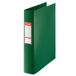 CARPETA PLASTICO 2 ANILLAS MIXTA 40 MM VERDE