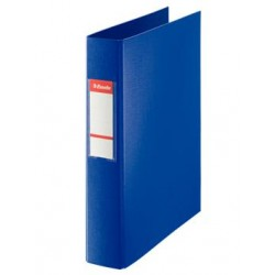 CARPETA PLASTICO 4 ANILLAS MIXTA 40 MM AZUL