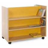 CARRO LIBRERIA DOBLE FRONTAL 90X79X50 CMS