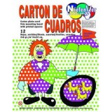 (L) CARTULINA CUADROS 24X32 COLORES NEON B/12 H