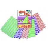 (L) CARTULINA RAYAS 24X32 COLORES NEON B/12 H