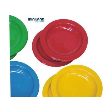 Set de platos plastico miniland for Set de platos