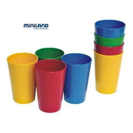 Set vasos plastico miniland - Vasos de colores ...
