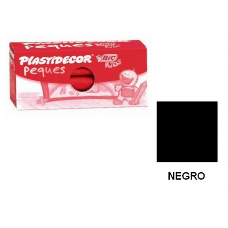 (L) CERAS PLASTIDECOR PEQUES C/12 NEGRO