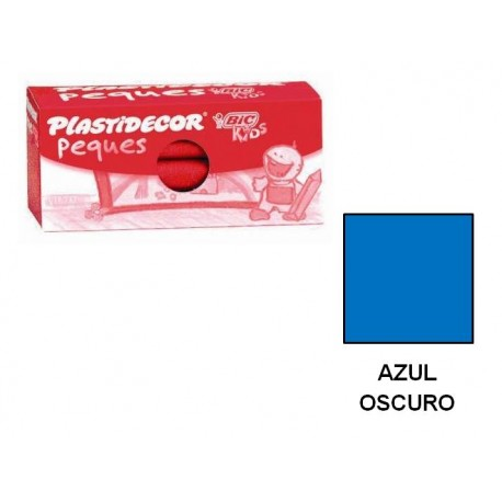 (L) CERAS PLASTIDECOR PEQUES C/12 AZUL OSCURO