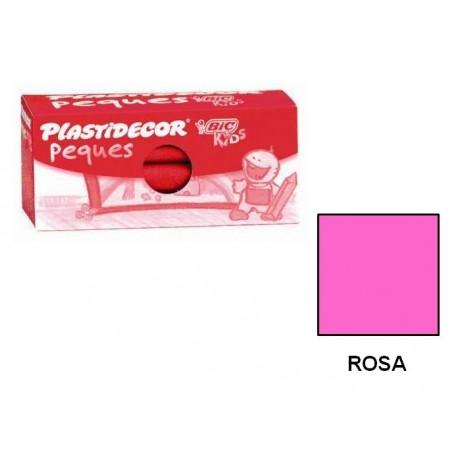 (L) CERAS PLASTIDECOR PEQUES C/12 ROSA