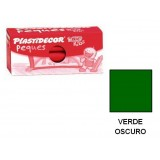 (L) CERAS PLASTIDECOR PEQUES C/12 VERDE OSCURO