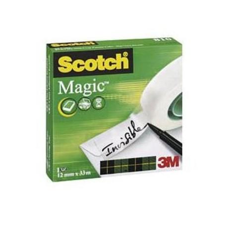 CINTA ADHESIVA INVISIBLE SCOTCH MAGIC 810 33X12 MM