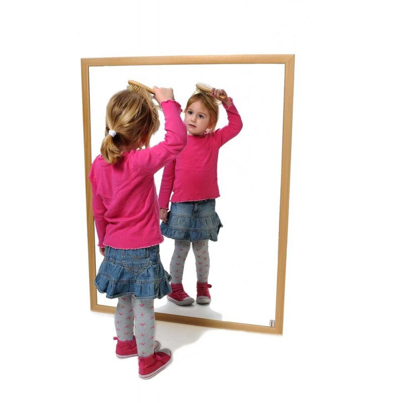 Espejo Infantil Madera Natural 120x50