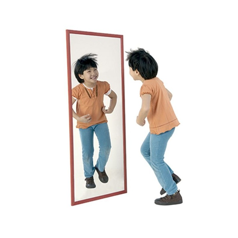 Espejo Infantil Madera Laqueada 120x50