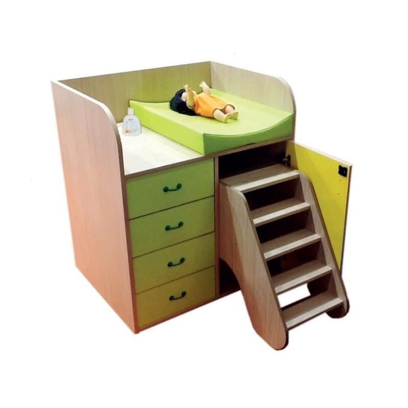 Mueble cambiador con escalera y cajones - Muebles cambiador ...