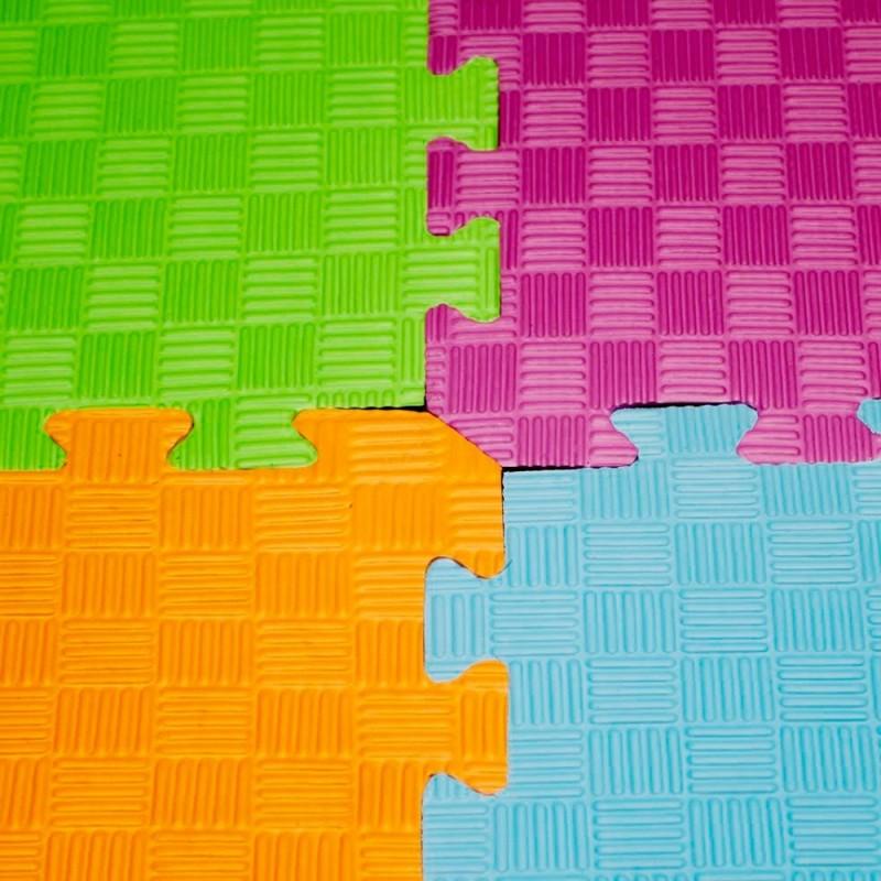 Loseta suelo foam 100x100x2 naranja amarillo - Suelo vinilico infantil ...