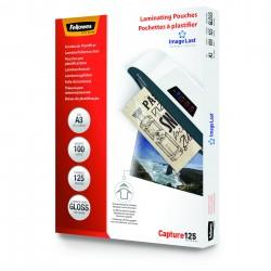 FUNDAS PLASTIFICAR FELLOWES A4 125 MICRAS 100 UDS