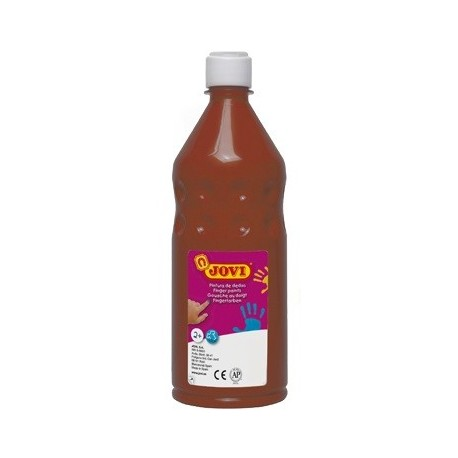 PINTURA DEDOS JOVI BOTELLA 750 ML MARRON