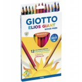 LAPIZ COLOR GIOTTO GIANT C/12 SURTIDOS