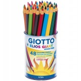 LAPIZ COLOR GIOTTO GIANT BOTE 48 UDS SURTIDOS