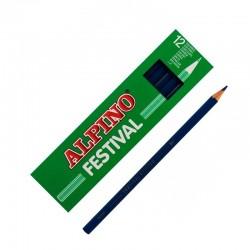 LAPIZ ALPINO FESTIVAL C/12 AZUL OSCURO