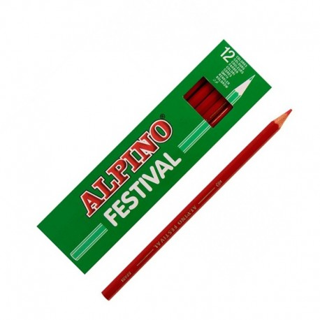LAPIZ ALPINO FESTIVAL C/12 ROJO