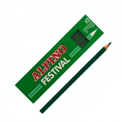LAPIZ ALPINO FESTIVAL C/12 VERDE OSCURO