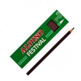 LAPIZ ALPINO FESTIVAL C/12 MARRON OSCURO