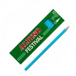 LAPIZ ALPINO FESTIVAL C/12 AZUL CLARO