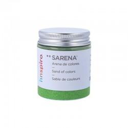 ARENILLA DE COLORES 110 GR. VERDE HOJA