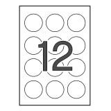 (L) ETIQUETA ILC APLI 1244 REDONDA 60 MM DIAMETRO