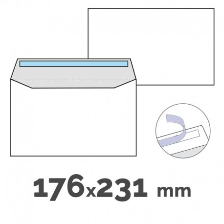 SOBRE CUARTILLA AUTO 176X231 C/250 UDS.