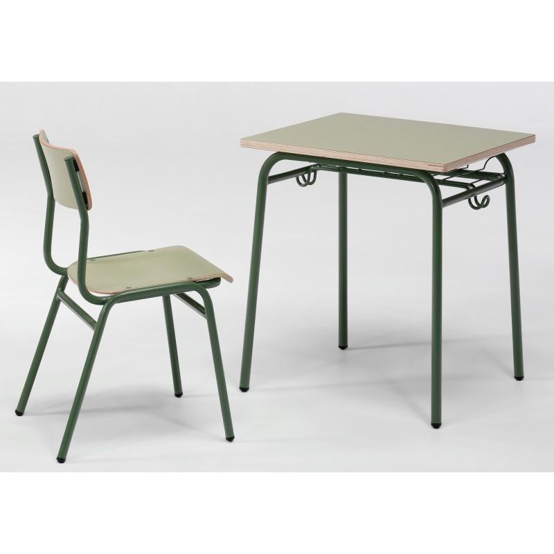 Pupitre unipersonal 60x50x64 9 11 a os m2 for Mobiliario escolar medidas