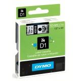 CINTA DYMO D1 12MM X 7M NEGRO/TRANSPARENTE 45010