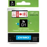 CINTA DYMO D1 12MM X 7M ROJO/BLANCO 45015