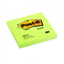 NOTAS ADHESIVAS POST-IT 76X76 NEON VERDE