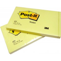 NOTAS ADHESIVAS 3M POST-IT 655 76X127