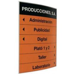 PICTOGRAMA Y DIRECTORIO PERFIL CURVO 15X15