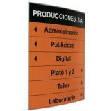PICTOGRAMA Y DIRECTORIO PERFIL CURVO 30X30