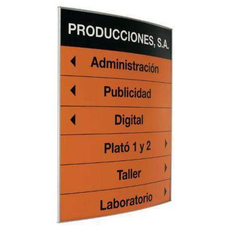 PICTOGRAMA Y DIRECTORIO PERFIL CURVO 60X60