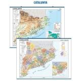MAPA MURAL CATALUÑA FISICO/POLITICO