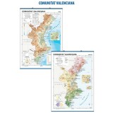 MAPA MURAL COMUNIDAD VALENCIANA FISICO/POLITICO