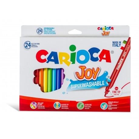 ROTULADOR CARIOCA JOY C/24 COLORES SURTIDOS