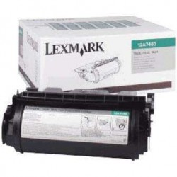 LEXMARK TONER T640/T642/T644 NEGRO 12A7460