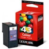 LEXMARK INKJET Z1520 X4850 Nº43 COLOR 018YX143E