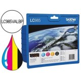 BROTHER DCP-J315W PACK 4 CARTUCHOS LC-985VALBP