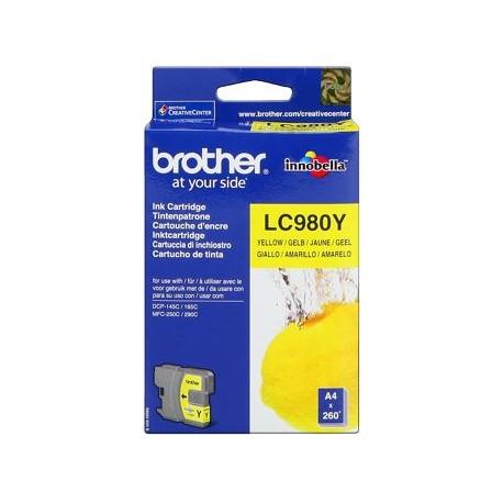 CARTUCHO ORIGINAL BROTHER LC980 - AMARILLO