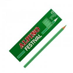 LAPIZ ALPINO FESTIVAL C/12 VERDE CLARO