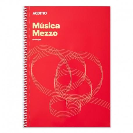 (L) CUADERNO MUSICA ADDITIO MEZZO M10