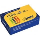 CLIPS LABIADOS Nº2 CAJA 32 MM COLORES