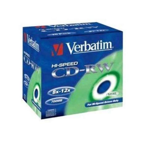 CD-RW 700 MB VERBATIM 8X10X