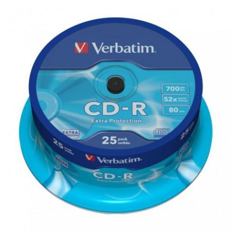 CD-R VERBATIM TARRINA 25 UDS.
